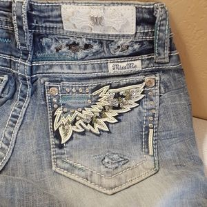 Miss Me cropped jeans - BLING sequins rhinestones